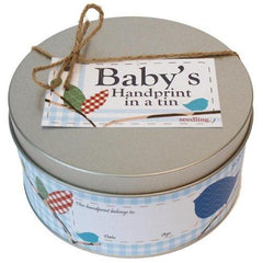 Baby's Handprint in a Tin