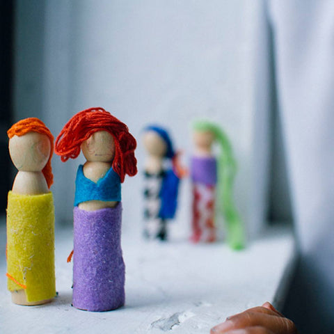 Create a Wooden People Family