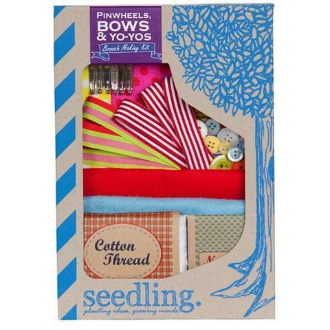 Pinwheels, Bows & Yo-yos Brooch Making Kit
