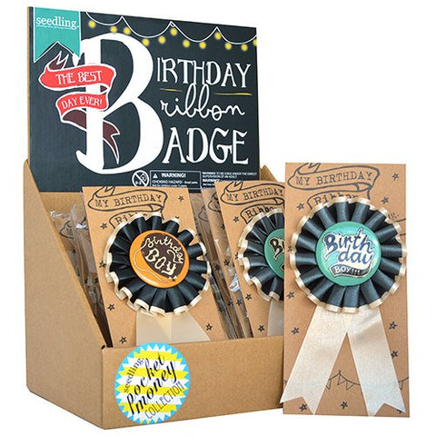 Birthday Ribbon Badge - Boy