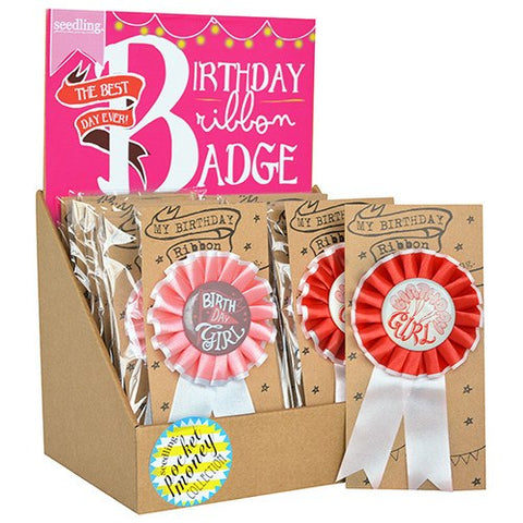 Birthday Ribbon Badge - Girl