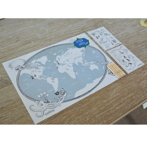 Pocket Money Collection - Citizen Of The World Map