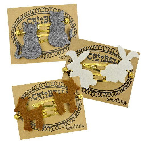 Pocket Money Collection - Cute As A Bell Felt Hairclips