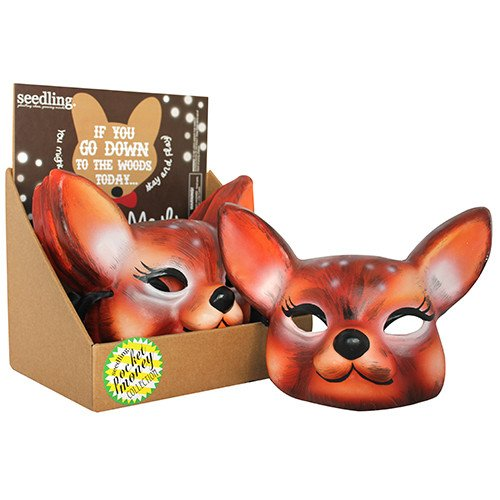 Pocket Money Collection - Deer Woodland Paper Mache Mask