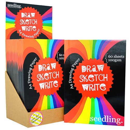 Pocket Money Collection - Draw Sketch Write! A4 Drawing Pad