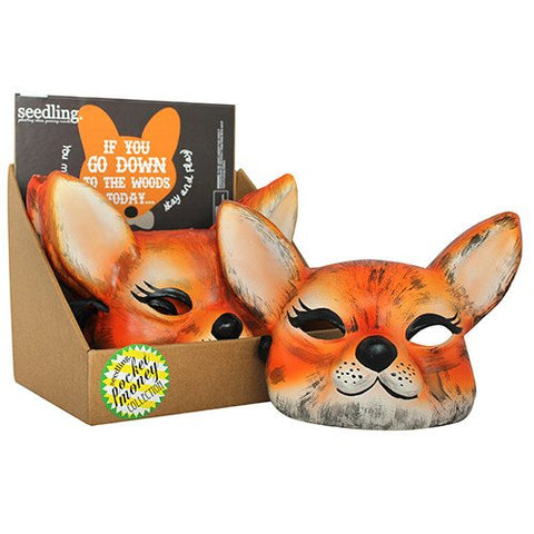 Fox Woodland Paper Mache Mask