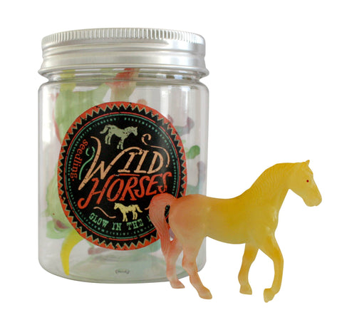 Glow-in-the-Dark Wild Horses
