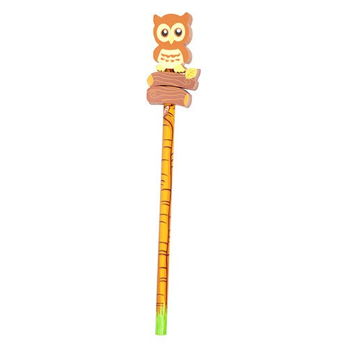 Pocket Money Collection - Hoot Owl Pencil & Eraser
