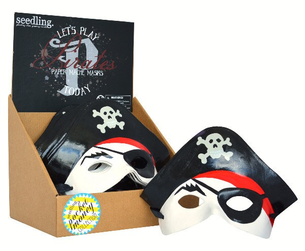 Pocket Money Collection - Let's Play Pirates Paper Mache Mask