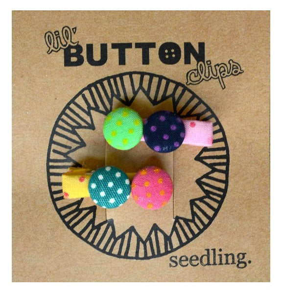 Pocket Money Collection - Lil' Button Hair Clips