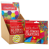 Pocket Money Collection - Love To Colour! 12 Jumbo Crayons