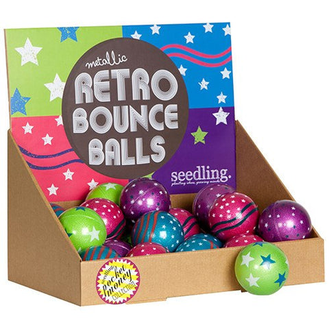 Metallic Retro Bounce Balls