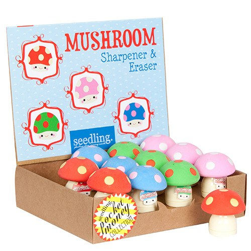 Pocket Money Collection - Mushroom Sharpener & Eraser