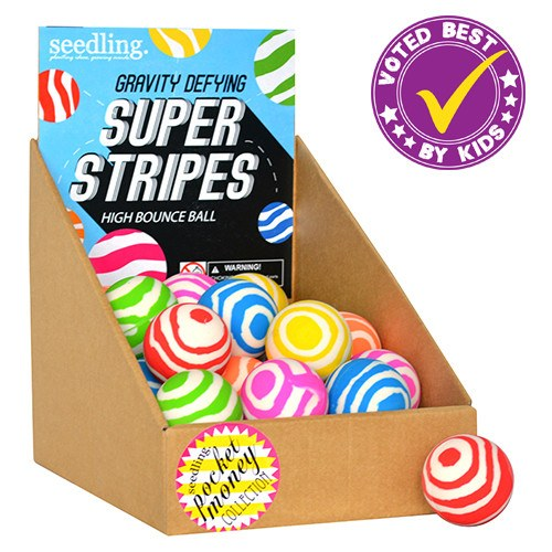 Pocket Money Collection - Super Stripes High Bounce Ball