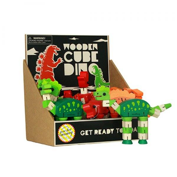 Pocket Money Collection - Wooden Cube Dino