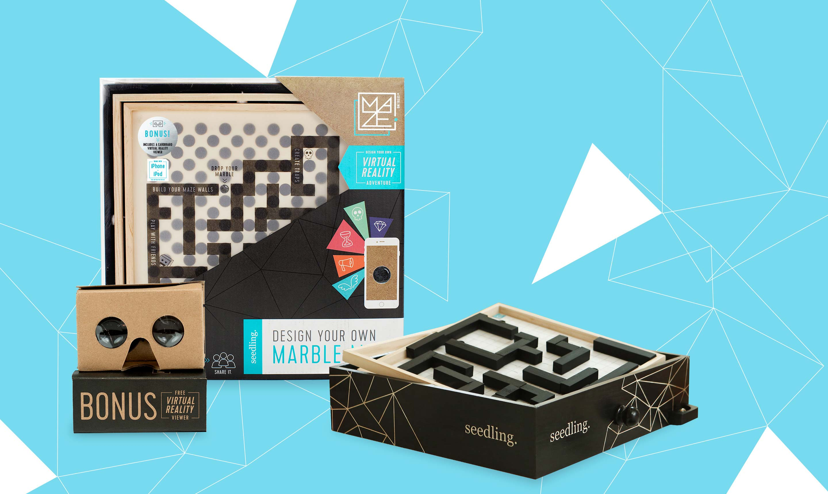 Seedling Marble Maze - Virtual Reality for Kids, Build your own