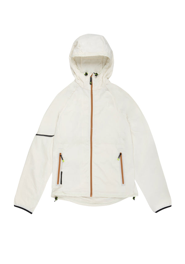 Autochtonae earth basic windbreaker men ecru front