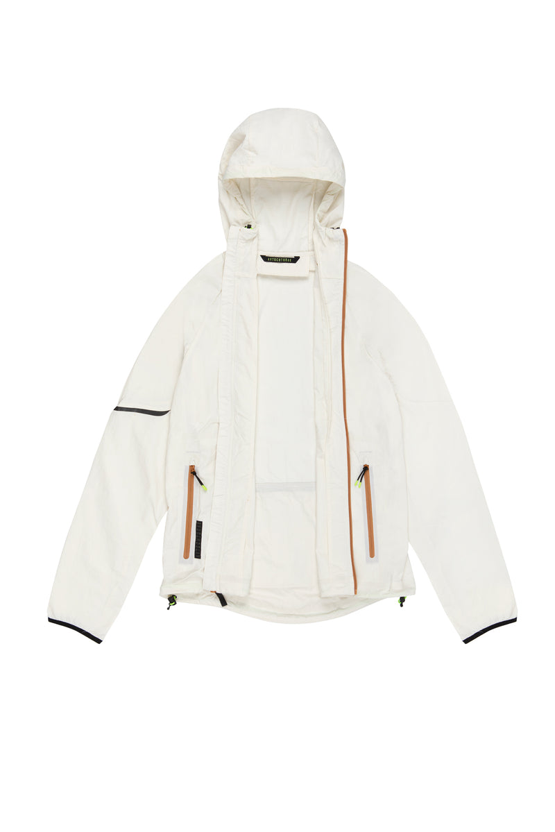 Autochtonae earth basic windbreaker men ecru lining