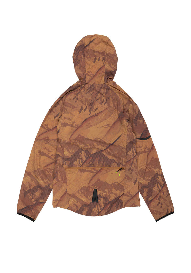 Autochtonae earth basic windbreaker men mountainprint tobacco back