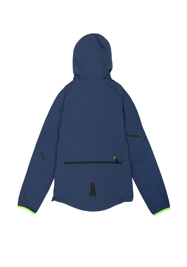 Autochtonae earth basic windbreaker men navy back