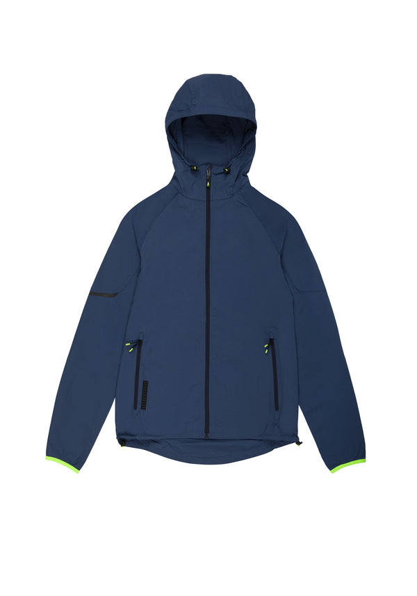 Autochtonae earth basic windbreaker men navy front