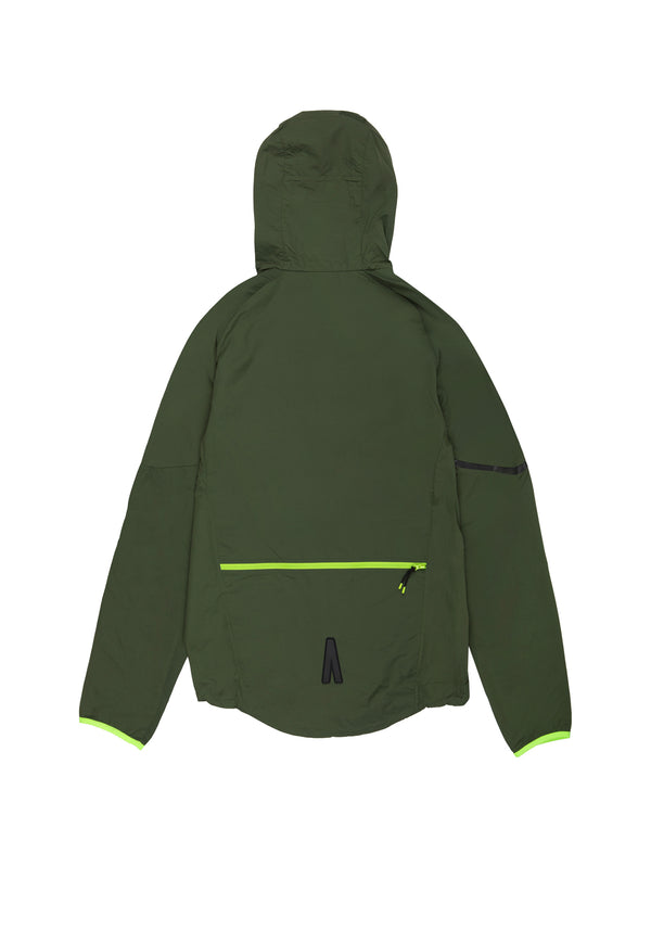 Autochtonae earth basic windbreaker men olive back