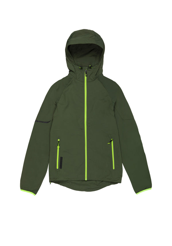 Autochtonae earth basic windbreaker men olive front