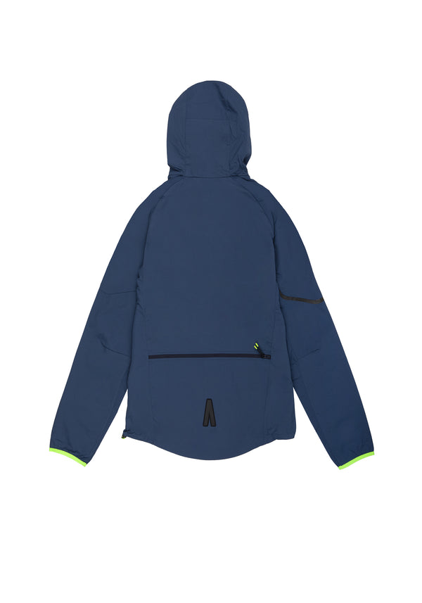 Autochtonae earth basic windbreaker women navy back