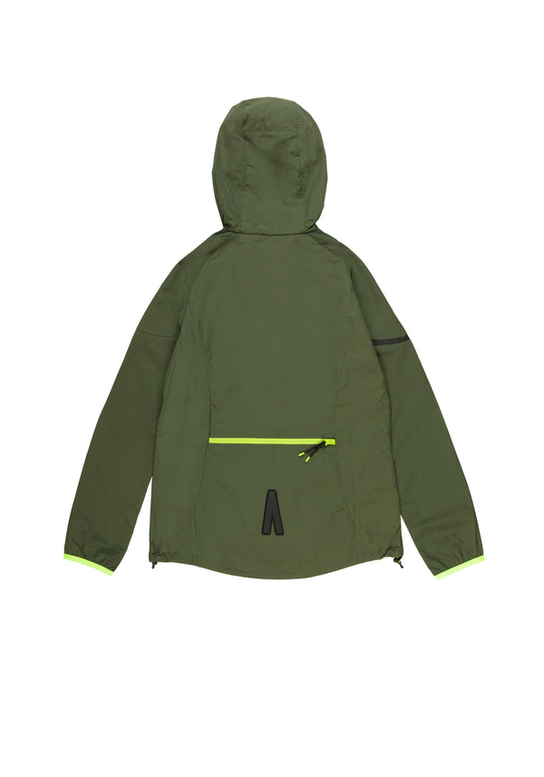 Autochtonae earth basic windbreaker women olive back