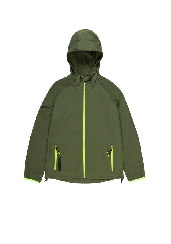 Autochtonae earth basic windbreaker women olive front