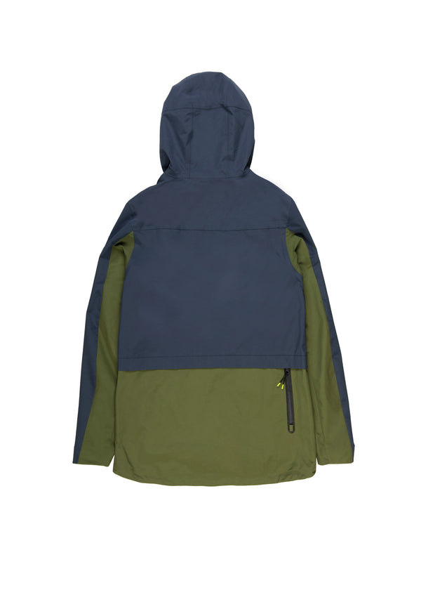 Autochtonae earth pro windbreaker men navy olive back