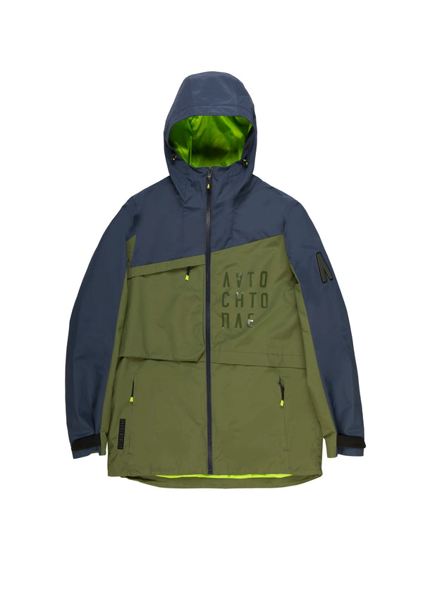 Autochtonae earth pro windbreaker men navy olive front