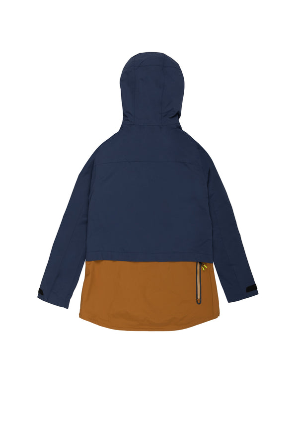 Autochtonae earth pro windbreaker women navy tobacco back