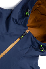 Autochtonae earth pro windbreaker women navy tobacco front zip