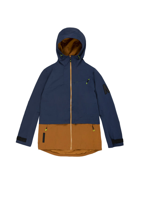 Autochtonae earth pro windbreaker women navy tobacco front