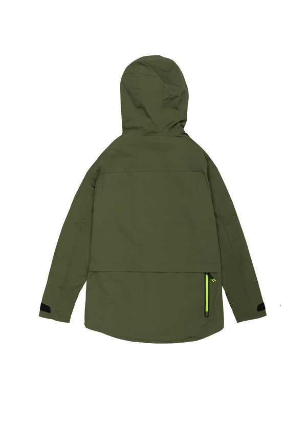 Autochtonae earth pro windbreaker women olive back