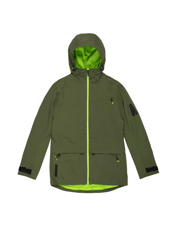 Autochtonae earth pro windbreaker women olive front