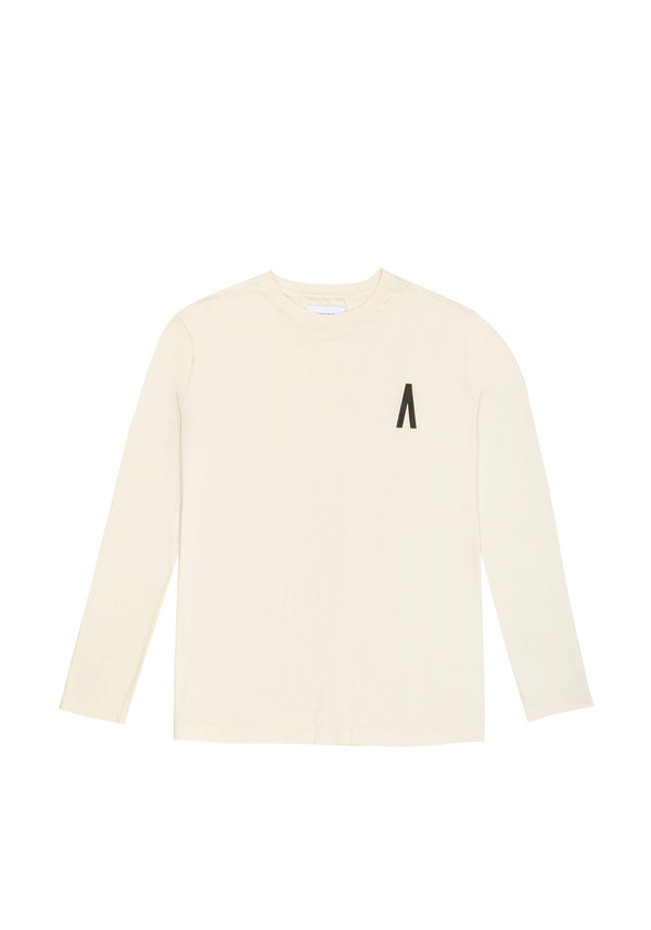 Autochtonae people basic tshirt longsleeves men ecru front