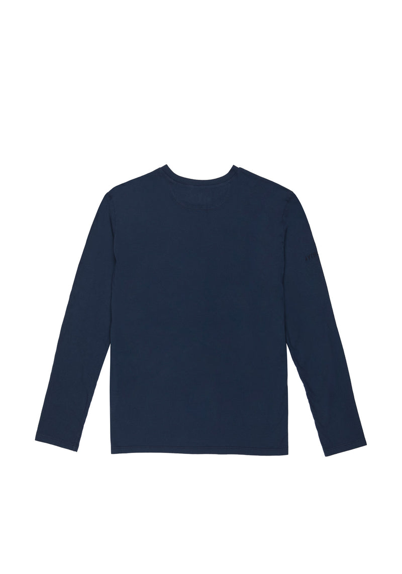 Autochtonae people basic tshirt longsleeves men navy back