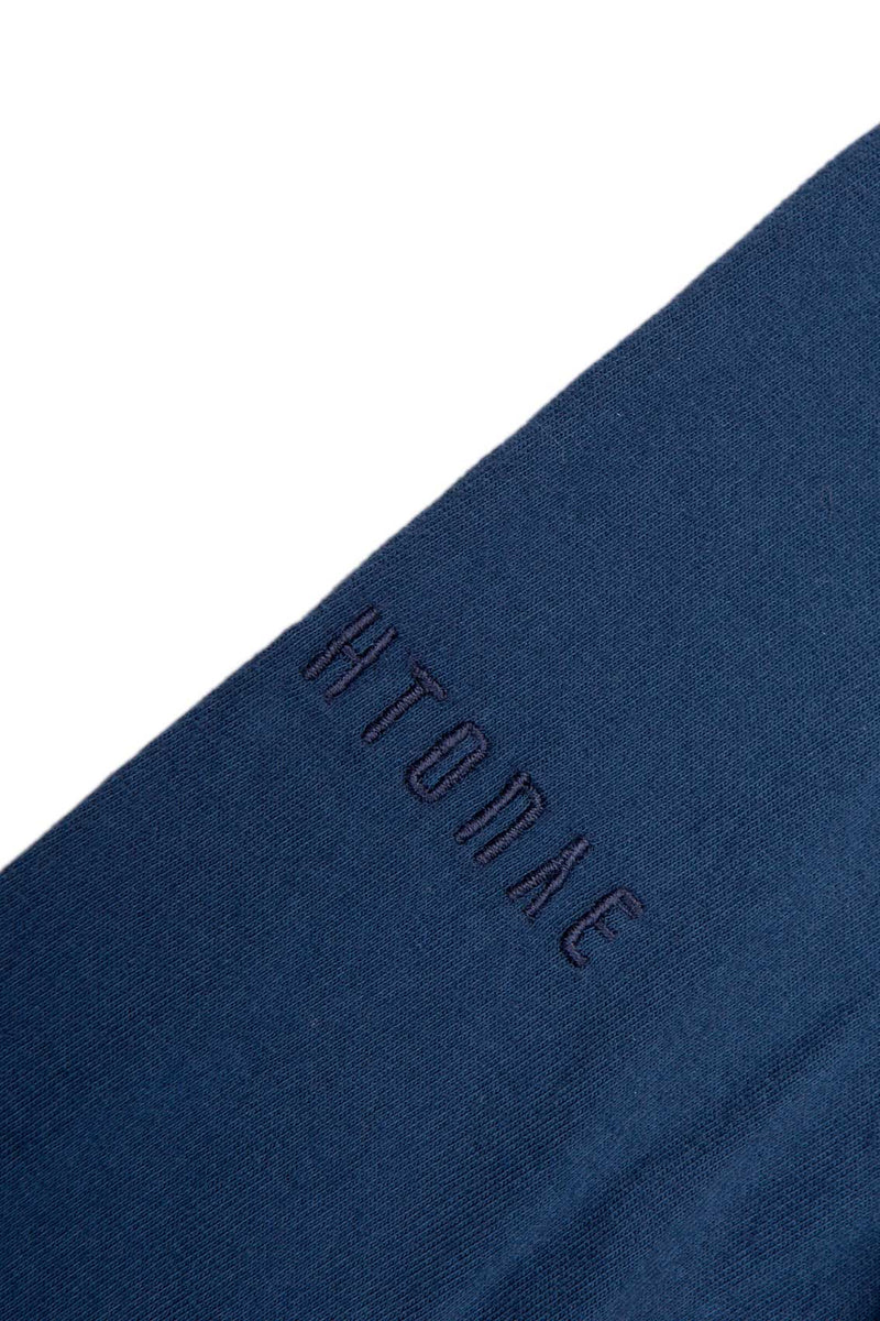 Autochtonae people basic tshirt longsleeves men navy embroidered logo