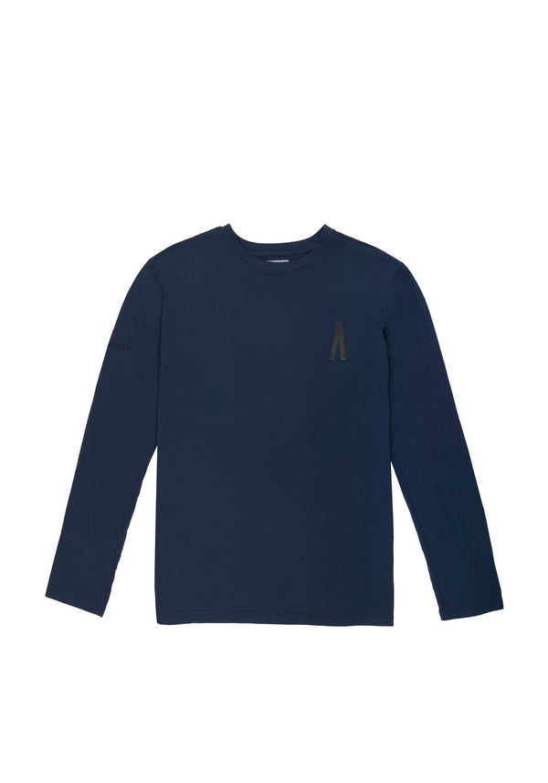 Autochtonae people basic tshirt longsleeves men navy front