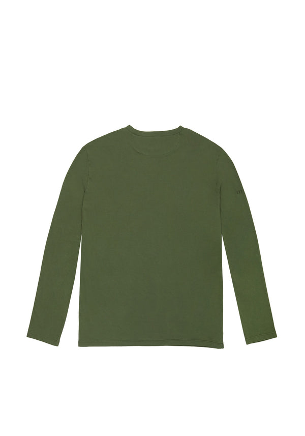 Autochtonae people basic tshirt longsleeves men olive back