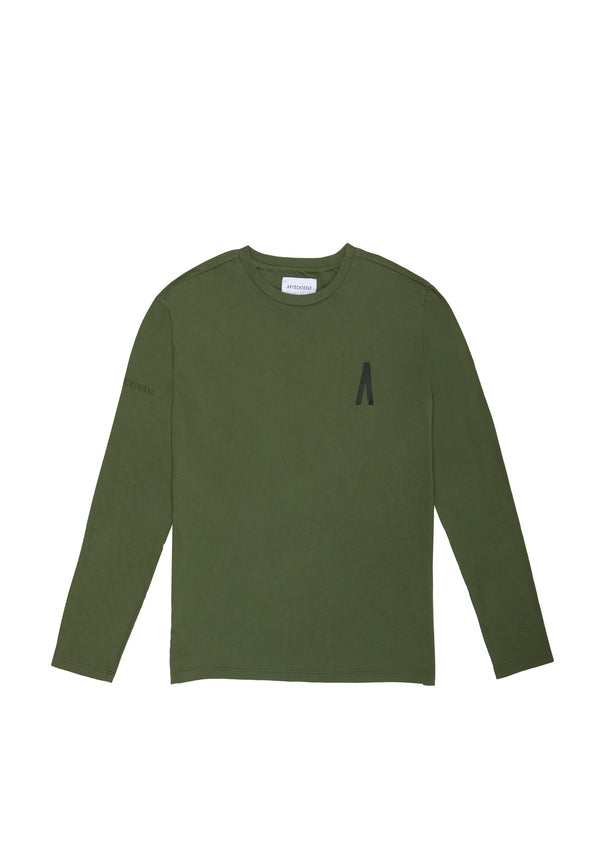Autochtonae people basic tshirt longsleeves men olive front