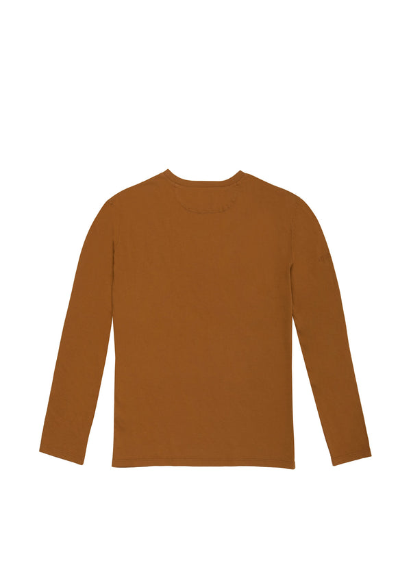 Autochtonae people basic tshirt longsleeves men tobacco back