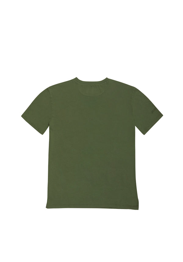 Autochtonae people basic tshirt shortsleeves men olive back