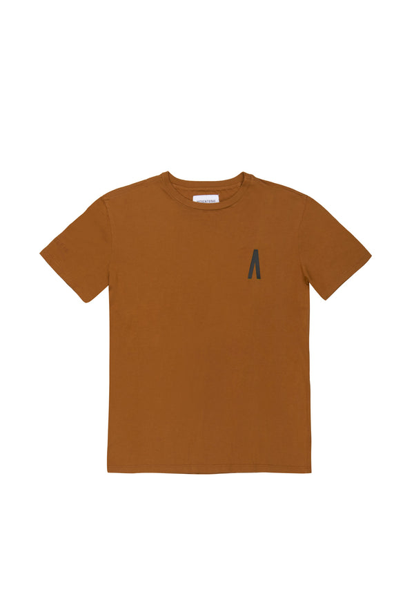 Autochtonae people basic tshirt shortsleeves men tobacco front