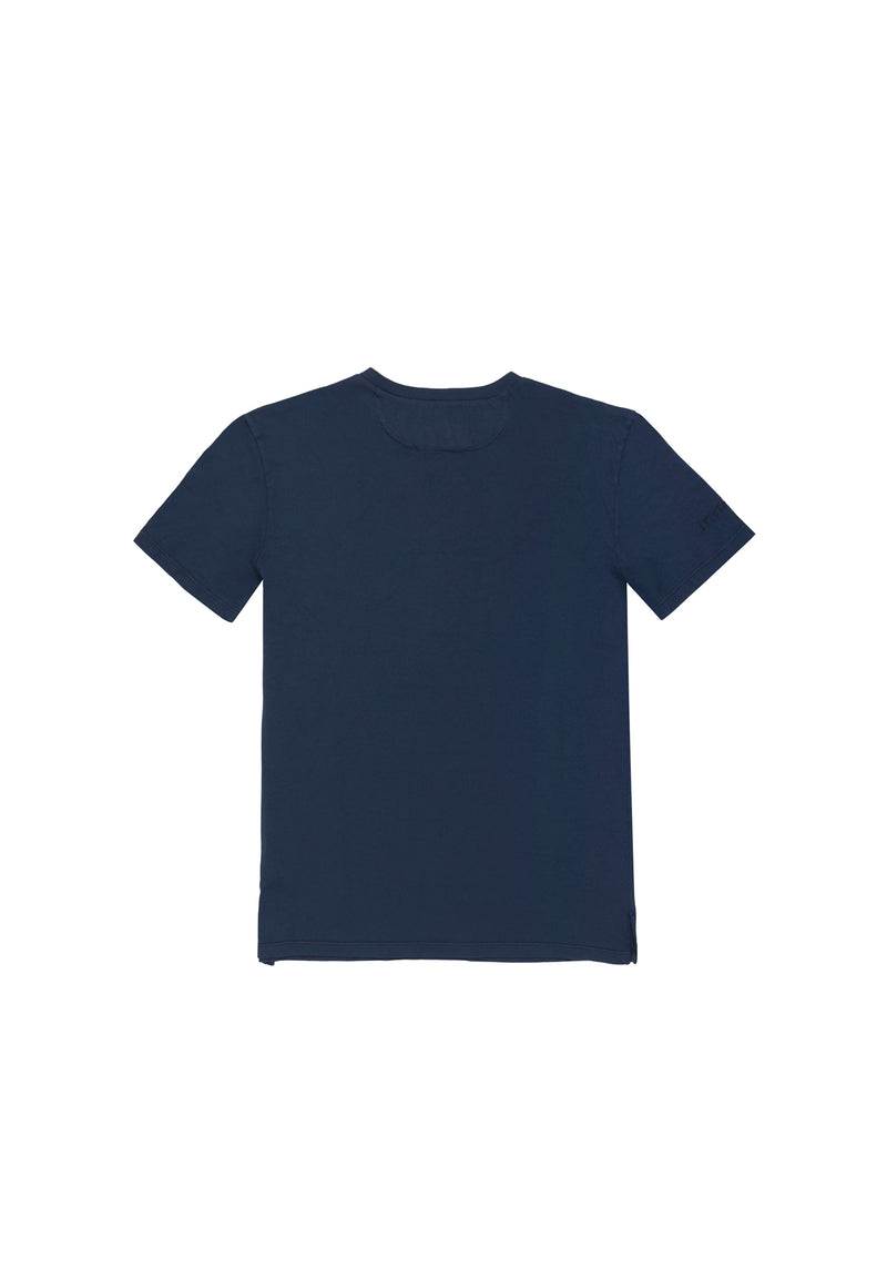 Autochtonae people basic tshirt shortsleeves women navy back