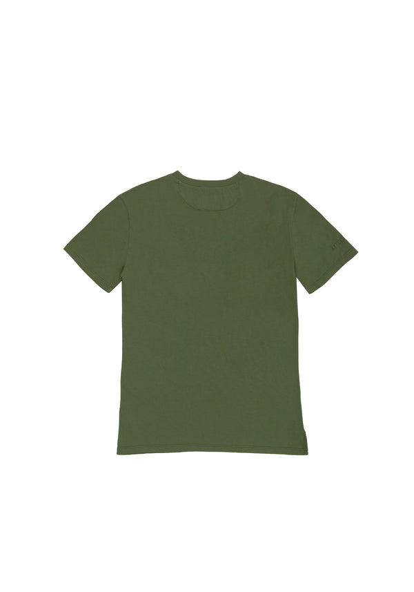 Autochtonae people basic tshirt shortsleeves women olive back