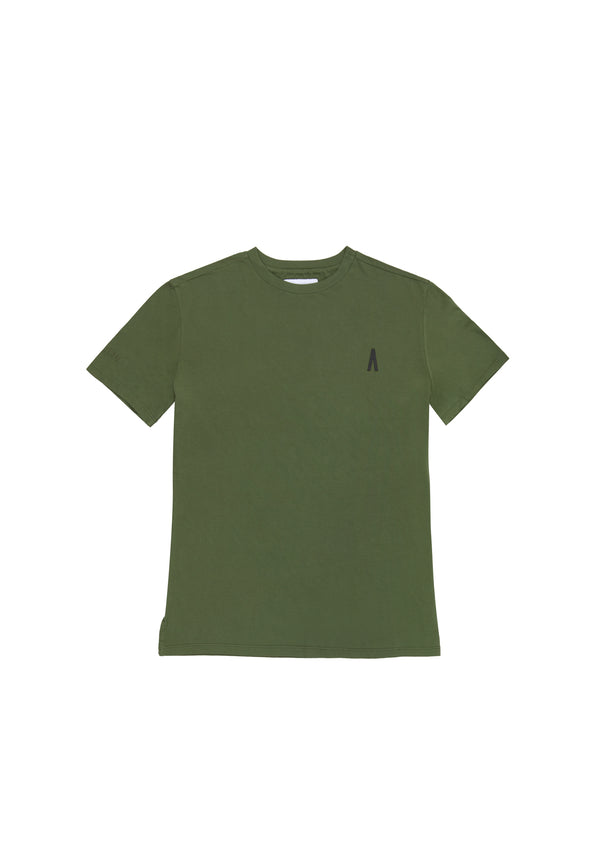 Autochtonae people basic tshirt shortsleeves women olive front