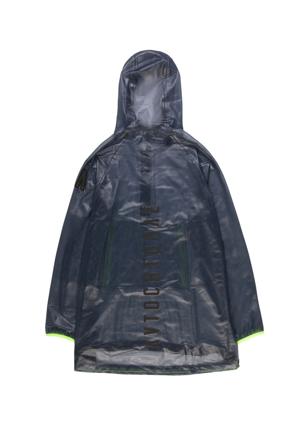 Autochtonae people raincoat unisex navy back